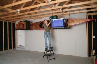 Overhead garage storage america 39 s shelving superstore for High loft garage storage
